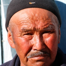 Kyrgyzstan - South of Karakol - In the mountains - his hero : Hitler...