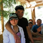 Kyrgyzstan - South of the Issyk Kul Lake - Young lovers