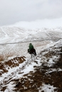 Kirghistan - Snow in May don't take the horseman by surprise