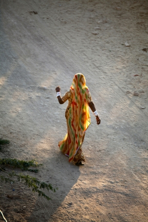 India - Rajasthan - dancing in the sunset