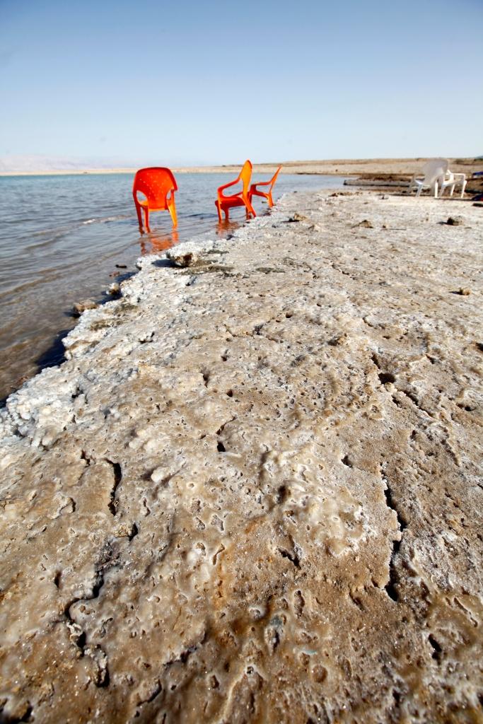 Israel - Dead Sea - Salt ate them all