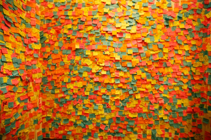 Singapore - Art Museum - Post It Room...